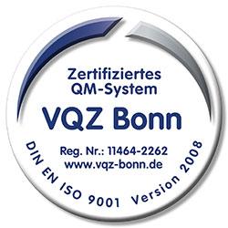 Zertifiziertes QM-System nach DIN EN ISO 9001 Version 2008