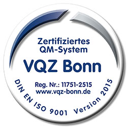 Zertifiziertes QM-System nach DIN EN ISO 9001 Version 2015