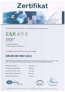 VQZ Bonn EKPDL ISO 9001