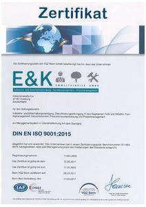 VQZ Bonn EKUS DIN EN ISO 9001